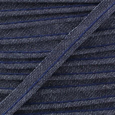 Passepoil jean bleu