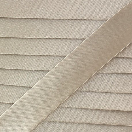 Satin bias binding x 20mm - cream