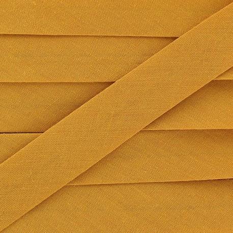 Multi-purpose-fabric Bias binding 20mm - antique gold