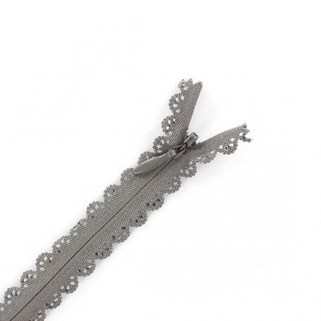 Fantasy zipper invisible lace - taupe