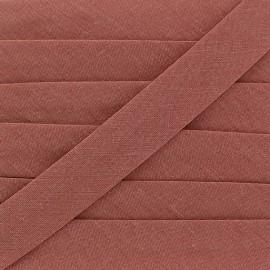 Biais Tout Textile vieux rose 20 mm