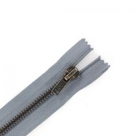 Fermeture Eclair® laiton séparable gris foncé
