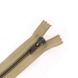 Brass Separating zipper - beige