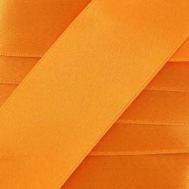 Ruban satin mandarine