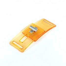 transparent clasp - orange