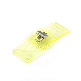 Fermoir transparent Disco jaune