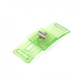 transparent clasp DISCO - green