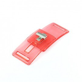 transparent clasp DISCO  - red