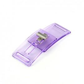 Fermoir transparent Disco violet