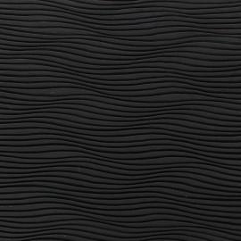 Wave Pleated Fabric - Black x 10cm
