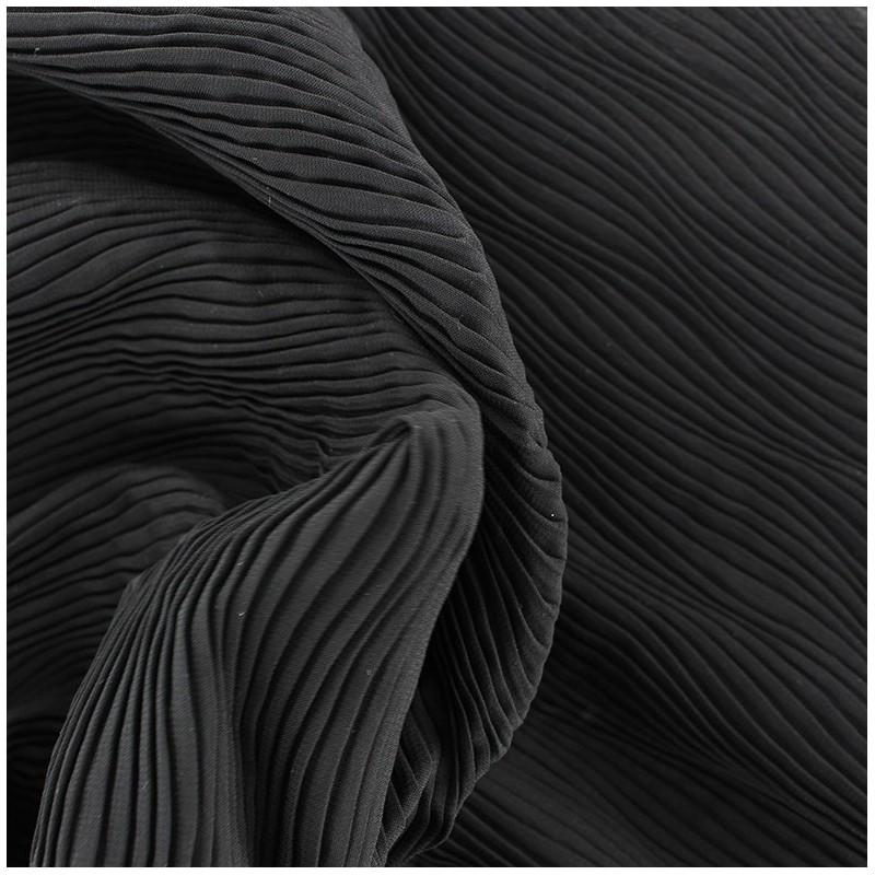 tissu pliss vague noir x 10cm ma petite mercerie. Black Bedroom Furniture Sets. Home Design Ideas