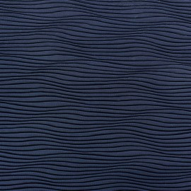 Tissu plissé Vague bleu marine x 10cm