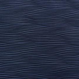 Wave Pleated Fabric - Navy Blue x 10cm