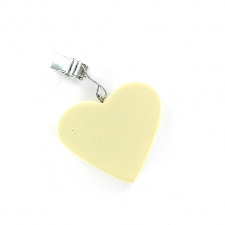 4 Table Cloth Weights heart - cream