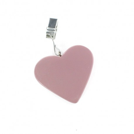 4 Table Cloth Weights heart - mauve