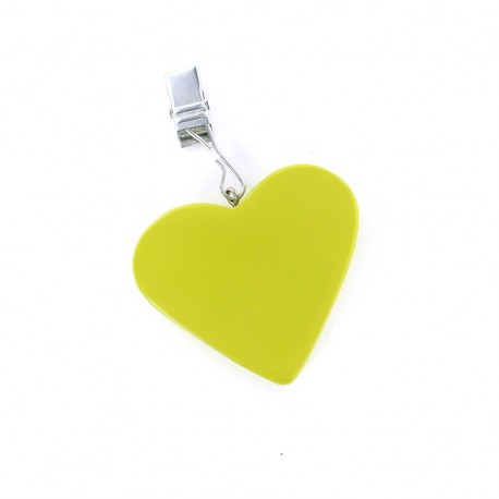 4 Table Cloth Weights heart - lime green