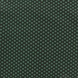 Tissu Lycra gaufré Spot vert x 10cm