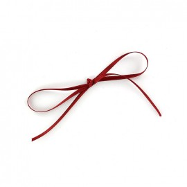 Comete Satin ribbon 3mm - carmine red
