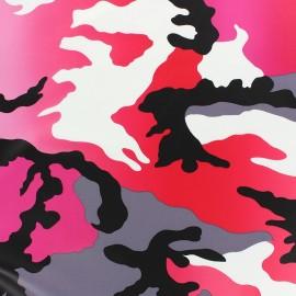 Simili cuir souple Militar rose/fuchsia x 10cm