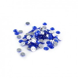 Sew-on cone India rhinestones - royal blue (100 pcs)