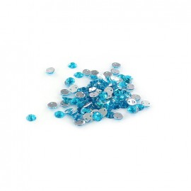 Sew-on cone India rhinestones - turquoise (100 pcs)