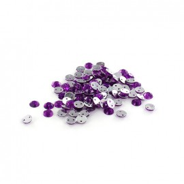 Strass rond à coudre India violet (lot de 100)