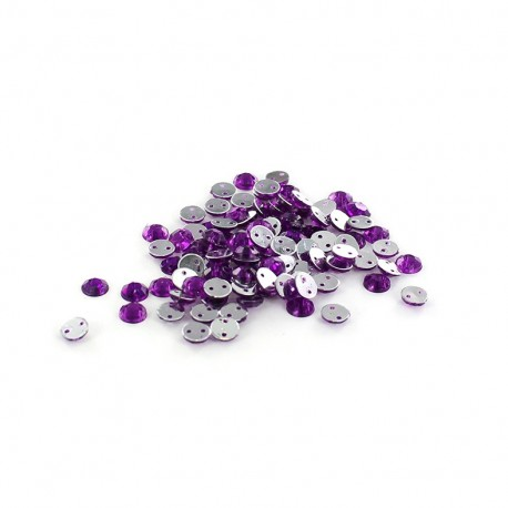 Sew-on cone India rhinestones - purple (100 pcs)