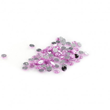 Sew-on cone India rhinestones - lilac (100 pcs)