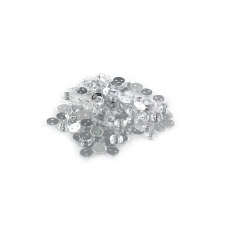 Sew-on cone India rhinestones - crystal (100 pcs)