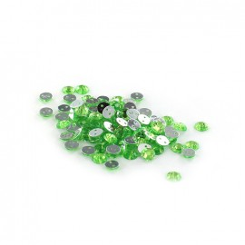 Sew-on cone India rhinestones - absinthe (100 pcs)