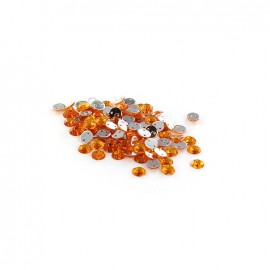 Sew-on cone India rhinestones - light orange (100 pcs)