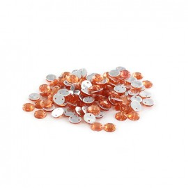 Sew-on cone India rhinestones - coral (100 pcs)