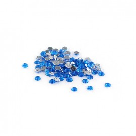 Strass rond à coudre India bleu (lot de 100)