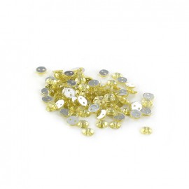 Sew-on cone India rhinestones - pale yellow (100 pcs)