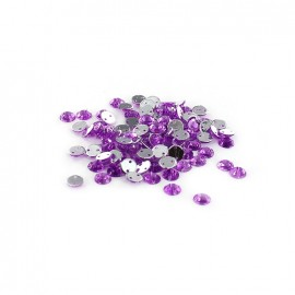 Strass rond à coudre India mauve (lot de 100)