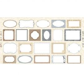 Tissu Quilt IT - CREAM - QUILTING LABELS  x 59cm