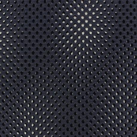 Mesh fabric Circle - navy blue x 10cm