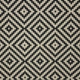 Jaquard Vannerie fabric - black x 13cm