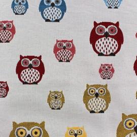 Tissu toile multi Owls x 10 cm