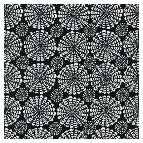 Tissu Collection Ashton Road - Rosace Noir x 10cm