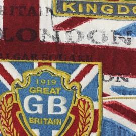 Tissu toile United Kingdom x 62 cm