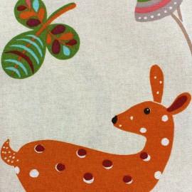 Tissu toile Sweet Animals x 63 cm