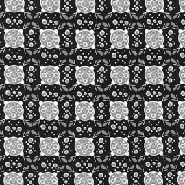 Tissu Collection Ashton Road D fond noir  x 10cm