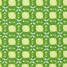 Tissu Collection Ashton Road D fond vert clair x 10cm