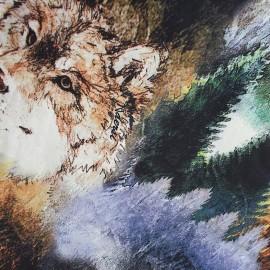Satiny fabric wolf x 50cm
