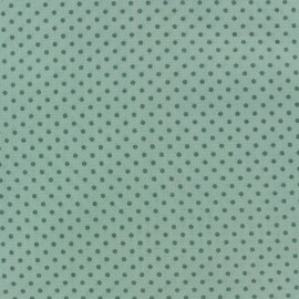 Cotton fabric Spring mini pois sage green on sea green x 10cm