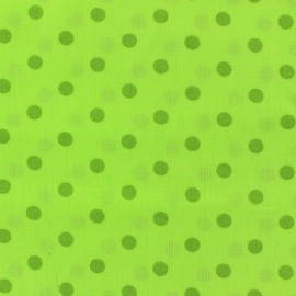 Cotton fabric Spring pois moss on lime x 10cm