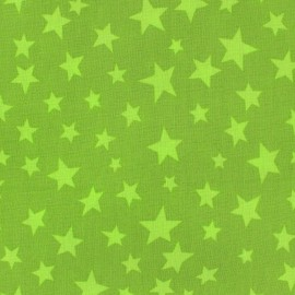 Cotton fabric Spring Voie lactée lime on moss x10cm