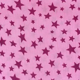 Tissu Spring Voie lactée framboise fond rose x 10cm