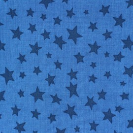 Cotton fabric Spring Voie lactée navy blue on blue x10cm